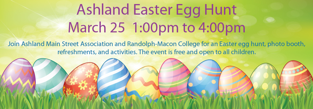 Easter Egg Hung March 25 1:00 to 4:00