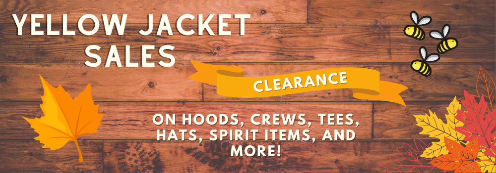 Yellow Jacket Sales, Clearance on hoods, crews, tees, spirit items and more! Save big!