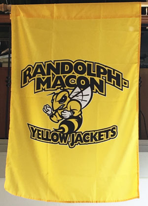 "FLAG BANNER R-M YELLOW JACKETS 40""x 28"""