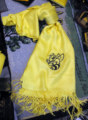 SCARF R-MC'S YELLOW JACKET BY OLLY OXEN YELLOW