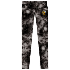LEGGINGS/COMPRESSION PANTS TIE DYE WITH YELLOW JACKET