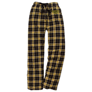 Image For PJ PANTS R-M BLACK/YELLOW PLAID FLANNEL