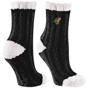 Image For SOCK FUZZY RIBBED WITH YELLOW JACKET